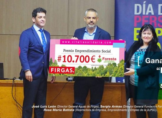 Agua de Firgas premia a FORESTA en el proyecto Vitalia Solidaria