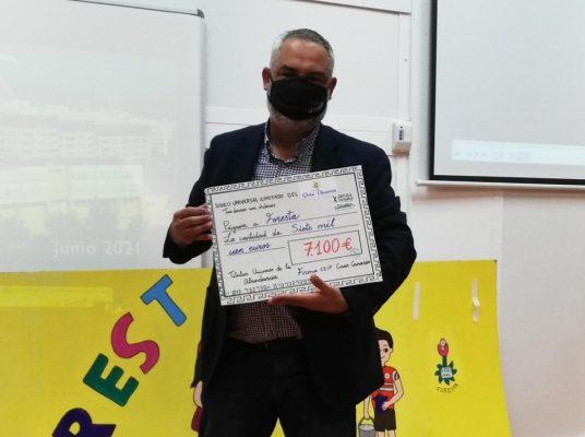 Sergio Armas en el colegio Gran Canaria